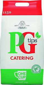 PG Tips Tea Bags Pyramid One Cups, Total 1150 Teabags £14.24 Prime / £18.99 Non Prime @ Amazon