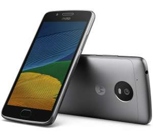 Sim Free Motorola Moto G5 Mobile Phone - Grey £129.95 + free any Sim Card @ Argos