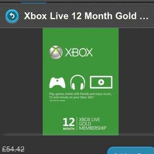 Xbox Live (12 months) £31.65 @ Gamesdeal