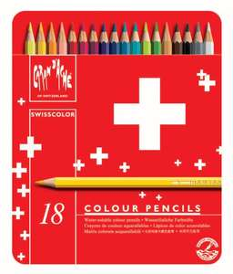 Caran D'ache Swisscolor Colour Pencils in Metal Box (Pack of 18) £12.98 Prime / £16.97 Non Prime @ Amazon (Sold by PriceQualityService PQS and Fulfilled by Amazon)