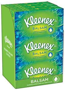 Kleenex Balsam Tissues - Pack of 12 - £7.80 (65p a box)  with 20% off voucher @ Amazon S&S
