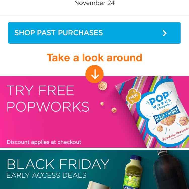 Free Popworks Strawberry cheesecake popcorn with Amazon Prime Now
