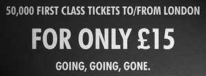 East Midlands Trains Black Friday First class fares £15 enter EMTBF15D