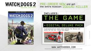 WATCH_DOGS 2 DELUXE EDITION [PC] - £16.99 @ Ubisoft (£13.59 with 20% off with 100 club points)