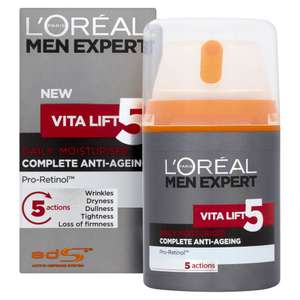 L'Oreal Men Expert Vita Lift 5 Anti Ageing Moisturiser 50ml - £6 @ Wilko