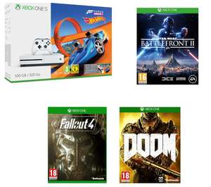 MICROSOFT Xbox One S with Forza + Battlefront 2 + Doom + Fallout 4 - £199.99 @ Currys