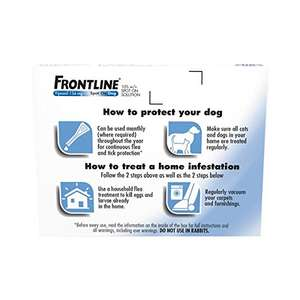 Frontline for dogs at Amazon for £15.39 Prime (£18.38 non-Prime)