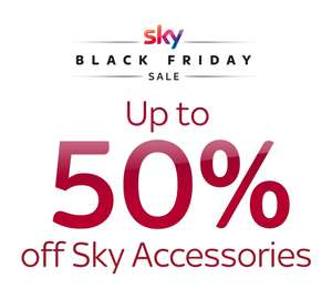 Sky Accessories Shop Black Friday Sale for SKY / NOW TV remotes and other accessories at up to 50% off