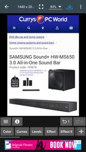 Samsung MS650 + SWA-9000S + SWA-700 Subwoofer at Currys for £598