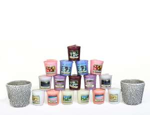 Yankee Candle 2 Mosaic Votive Holder & 16 Candle Set at Bargain Crazy for £24.99
