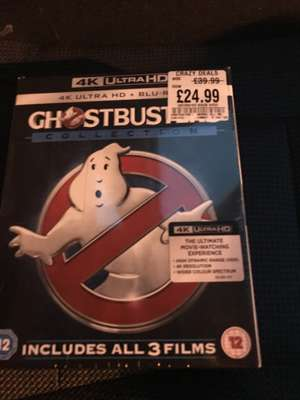 Ghostbusters 1-3 includes 4K UHD disc + Blu-Ray disc + Digital HD code £24.99 @ HMV