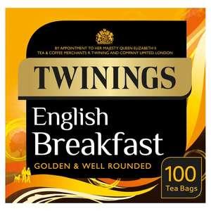 Twinings Tea - English Breakfast, Earl Grey & Lady Grey. 100 Tea Bags. All on offer for £3.00 at Morrisons. In-store and on-line.