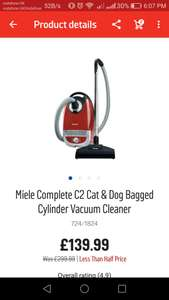 Miele c2 at Argos for £139.99