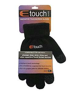Etouch Touchscreen Gloves - £3.99 @ Amazon - Sold and Fulfilled by PARIELLA