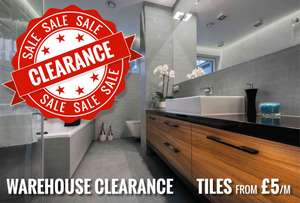 Warehouse Clearance - Free ceramic tiles in Eastleigh/Chandlers Ford/Southampton Area