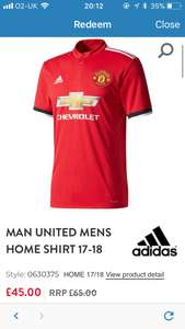 Manchester United 17/18 shirt adults - £45 and other teams on Black Friday sale!