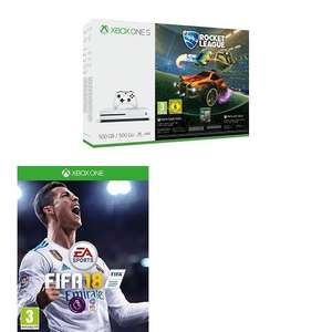 XBOX ONE S [500GB] with FIFA 18 + Rocket League - £199.99 @ Amazon