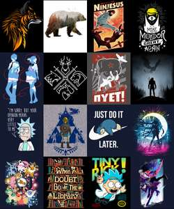 Qwertee Black Friday deal Randomly selected T shirt designs £4 plus p&p