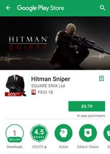 Hitman Sniper 80% off. Google play store