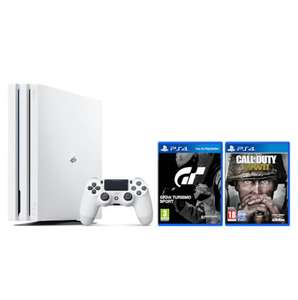 PS4 1TB PRO WHITE + Call of Duty + Gran Turismo £299.99 @ Zavvi