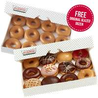 Krispy Kreme free original dozen when you buy the premium dozen , classic or the original dozen