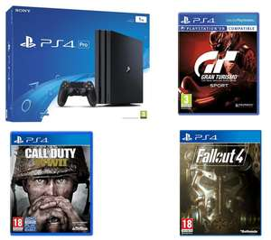 PS4 Pro + Gran Turismo + COD WWII + Fallout 4 £299.99 @ Currys