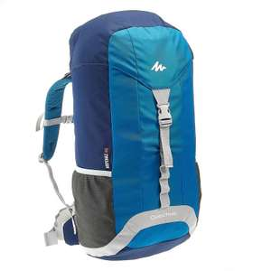 QUECHUA Arpenaz 40 Litre Backpack, Blue/Grey for £6.99 and free collect @ Decathlon