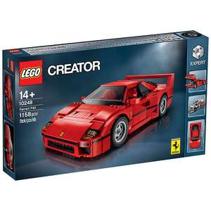 Lego Ferrari F40 reduced £63.74 on John Lewis along with the campervan. Mini and Beetle