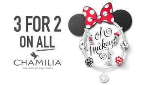 50% of Chamilia charms/braclets/range @ H samual + 3 for 2 on sale items.