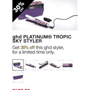 GHD PLATINUM TROPIC SKY STYLER 30% off - £122.50