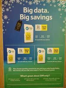 Tesco Mobile Black Friday Sim Only Deals