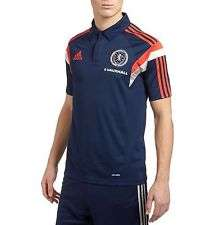 Adidas 2014-15 Scotland Player Issue Polo T-shirt Blue £7.99  + £3.75 Delivery @ Classic Football Shirts