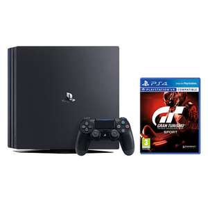 Sony PlayStation 4 Pro Console, 1TB, with DUALSHOCK 4 Controller, Jet Black and Gran Turismo Sport £299.95 John Lewis