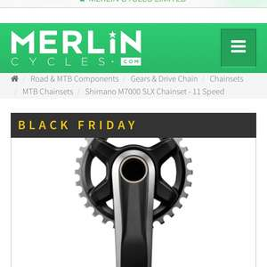 Shimano SLX M7000 175mm 32T chainset only £52.50 @ merlin Cycles