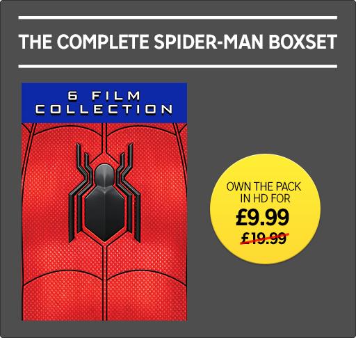 6 Film Spider-man Collection - Digital HD - £9.99 - Rakuten TV + 20% Cashback via TopCashBack