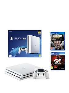 PS4 Pro white + cod ww2 +GT sport £299 @ Very