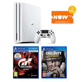 White Ps4 Pro 1TB with COD WW2 + GT Sport + 2 months now TV  entertainment pass £299.99 @ Game