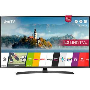"LG 43UJ635V LED HDR 4K Ultra HD Smart TV, 43"" with Freeview Play & Crescent Stand, Black at John Lewis for £369"