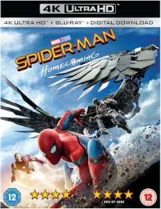 Spider-man homecoming ultra hd + comic book £15.99 @ Zavvi
