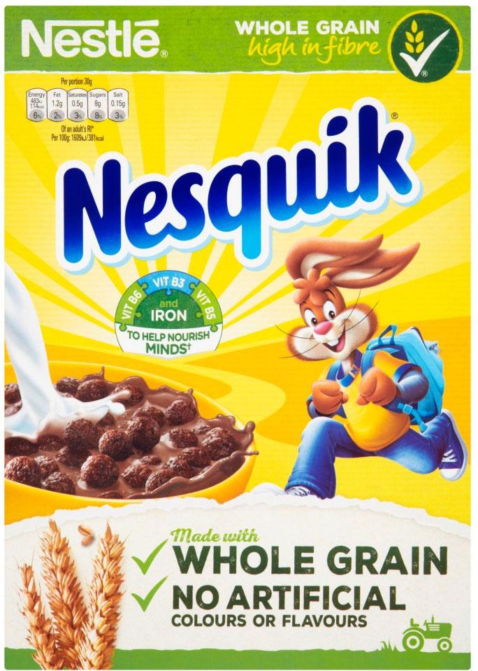 Nestle Nesquik (375g) was £2.50 now £1.25 @ Ocado