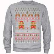 Nintendo Super Mario Mario Ho Ho Ho It's A Me Grey Christmas Jumper £16.99 / Nintendo Super Mario Happy Holidays The Good Guys Red Christmas Jumper £16.99 @ IWOOT