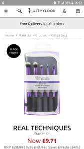 Real Techniques starter kit brushes £9.71 @ Just My Look