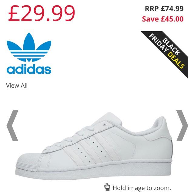 Adidas Originals superstar women's men's £29.99 + postage at mandm direct