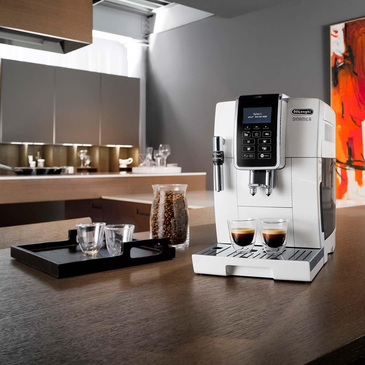 De'Longhi ECAM350.35.W Dinamica Bean-to-Cup Coffee Machine, White - COSTCO ONLINE for £299.89 (Costco member price or £314.95)
