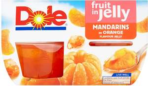 Dole Fruit in Juice Peaches (4 x 113g = 452g)​ one pack of 4 is £2.43 but buy 2 and you can mix and match for just £3.00 until Boxing day December 26th @ Morrisons