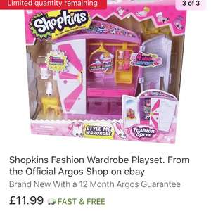 Shopkins Wardrobe Playset - £11.99 delivered @ Argos Ebay