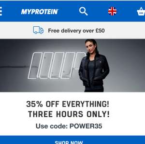MyProtein Flash Sale 35% off everything
