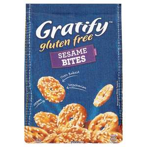 Gratify Sesame Bites (200g) / Gratify Sea Salt Bites (227g) was £1.99 now £1.00 @ Tesco