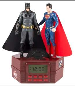 Batman and superman alarm clock £7.99 instore @ Home Bargains