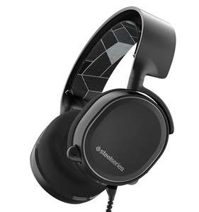 Steelseries Artics 3 Gaming Headset, 7.1 Surround for PC, Software Management, (PC / Mac / Playstation / Nintendo Switch / Mobile / VR) - Black @Amazon Warehouse Deals